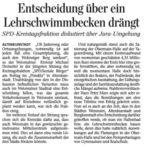 SPD-Kreistagfraktion diskutiert