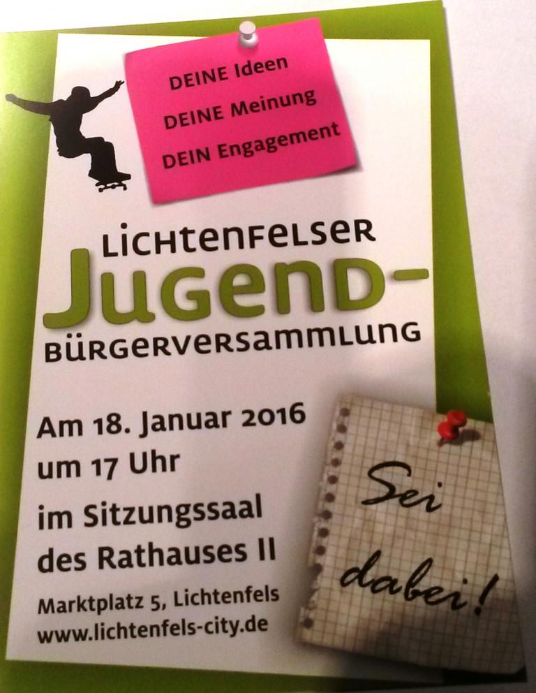 Jungdbürgerversammlung in Lichtenfels